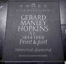 Gerard Manley HOpkins memorial, Westminster Abbey