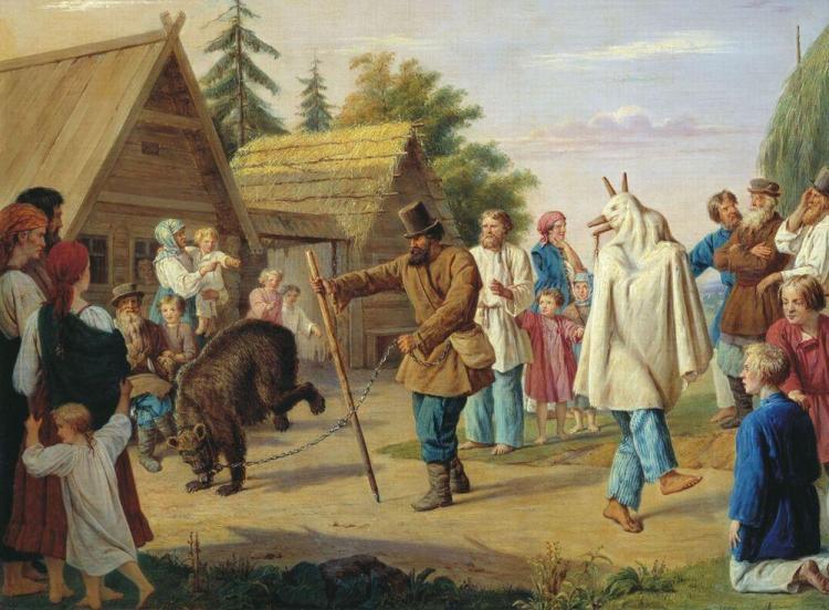 Franz_Riss_Skomorokhs_in_a_village