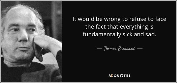 Thomas Bernhard's soliloquies